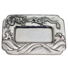 Japanese Sterling Silver Pan Tray