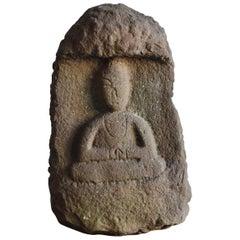 Japanese Stone Buddha Statue 'Nyorai' 1700-1800 Middle-Late Edo Period
