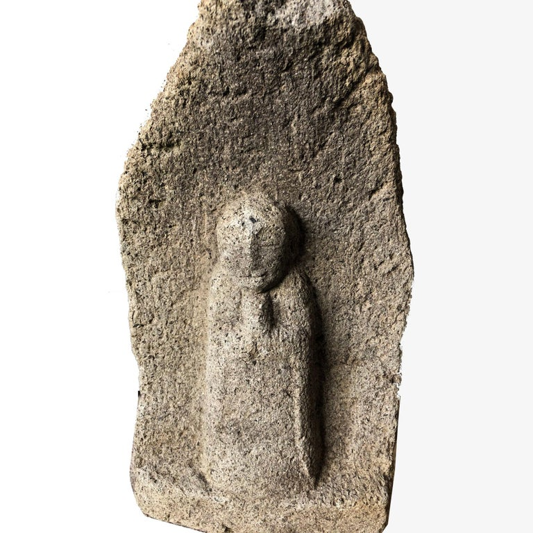 Early 20th Century Japanese Stone Jizo