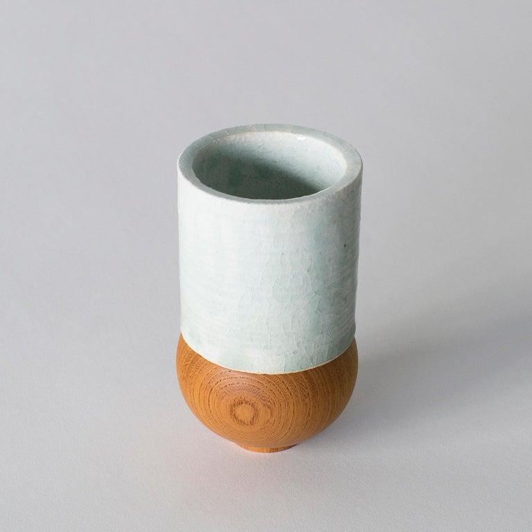 Japonisme Japanese Style Ceramic Cup Takuya Hamajima Contemporary Zen For Sale