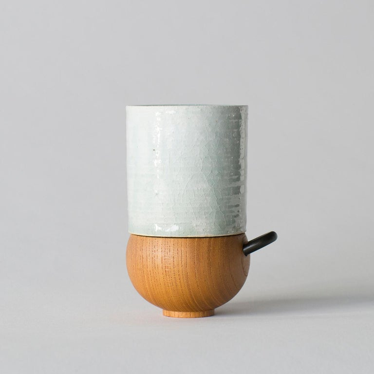 Japanese Style Ceramic Cup Takuya Hamajima Contemporary Zen For Sale 2