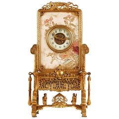 Japanese Style Clock Attributed to L'Escalier de Cristal