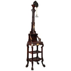 Japanese Style Floor Lamp Attributed to G. Viardot