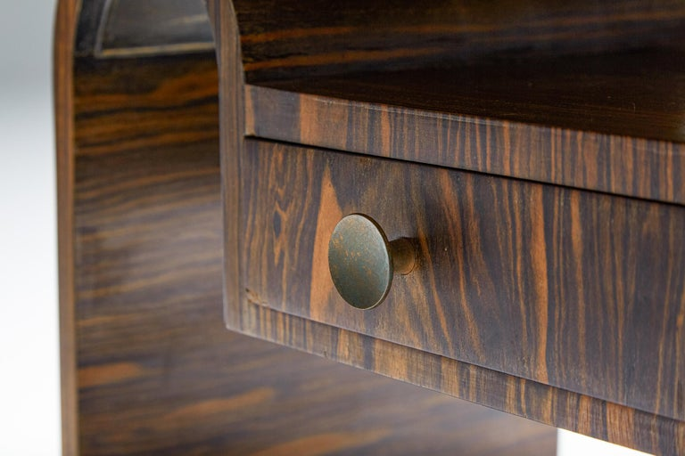 Japanese Rosewood Side Table, organic coffee table with drawers For Sale 1