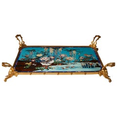 Japanese Style Tray Attributed to L.-C. Sevin and F. Barbedienne