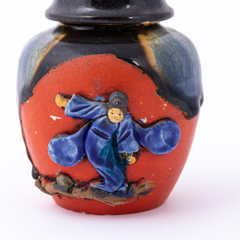 20th Century Japanese Sumida Gawa Tea Caddy For Sale