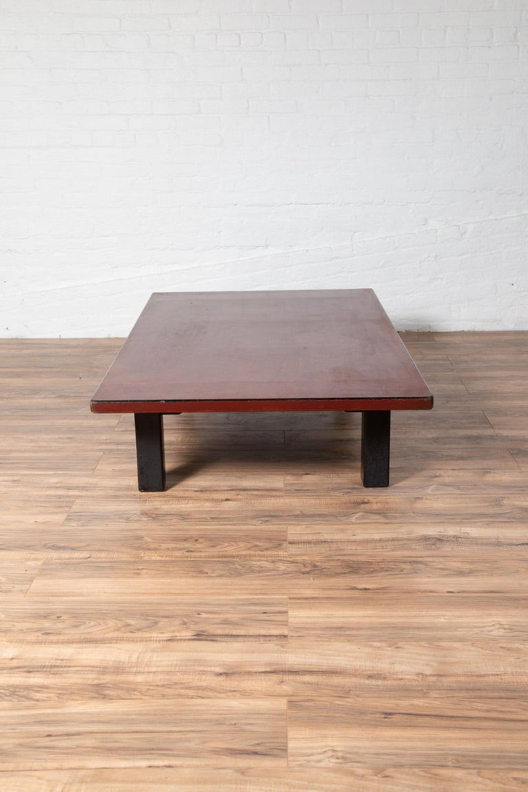 Japanese Taishō Period Early 20th Century Coffee Table with Negora Lacquer For Sale 5