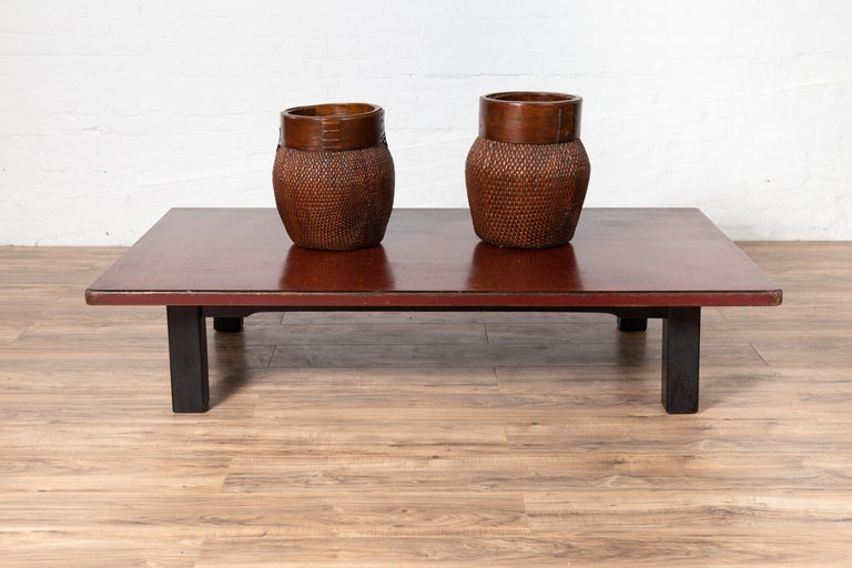 Taisho Japanese Taishō Period Early 20th Century Coffee Table with Negora Lacquer For Sale