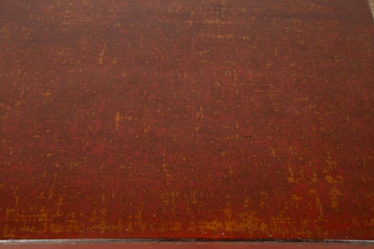 Wood Japanese Taishō Period Early 20th Century Coffee Table with Negora Lacquer For Sale
