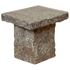 Japanese Taishō Period Early 20th Century Rustic Exterior Stone Garden Seat