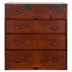 Japanese Taishō Period Early 20th Century Tansu Chest with Five Drawers
