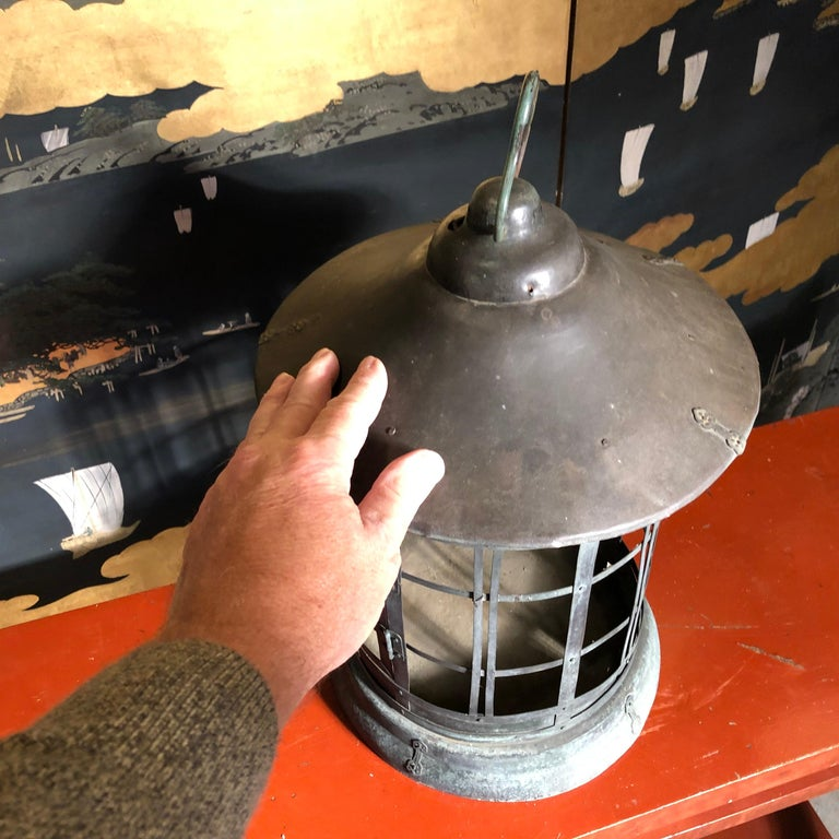 Japanese Tall Antique Lantern with Double Doors and Fine Details In Good Condition For Sale In Shelburne, VT