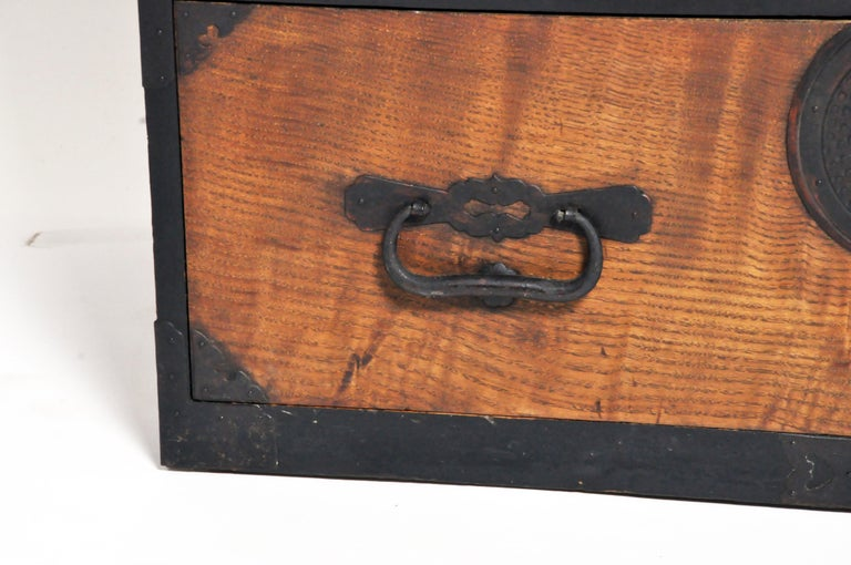 Japanese Tansu with Hand-Forged Hardware For Sale 5