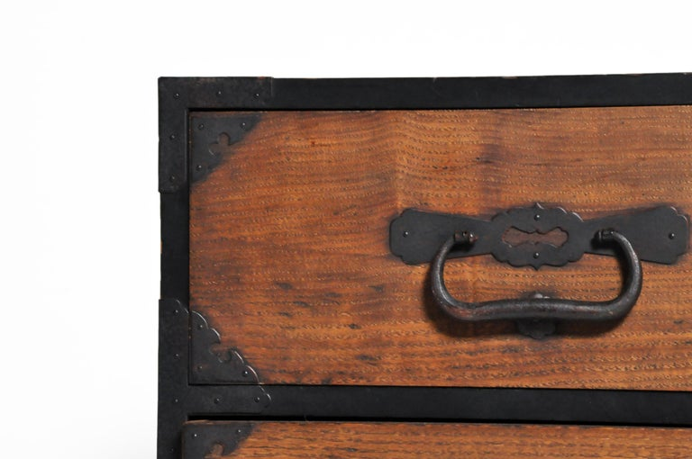 Japanese Tansu with Hand-Forged Hardware For Sale 2