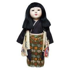 Japanese Traditional Kimekomi Ichimatsu Boy Doll, 1960s