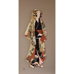 Japanese Contemporary Traditional silk brocade Handcrafted Decorative Art
