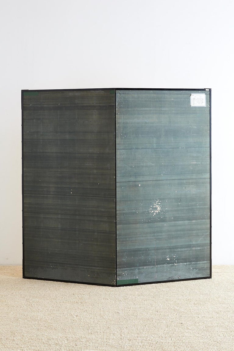 Japanese Two-Panel Gold Leaf Screen by Yoshikawa For Sale 12