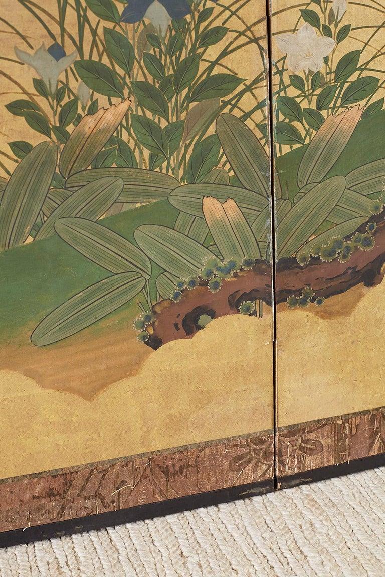 Japanese Two-Panel Meiji Screen Autumn Landscape 5