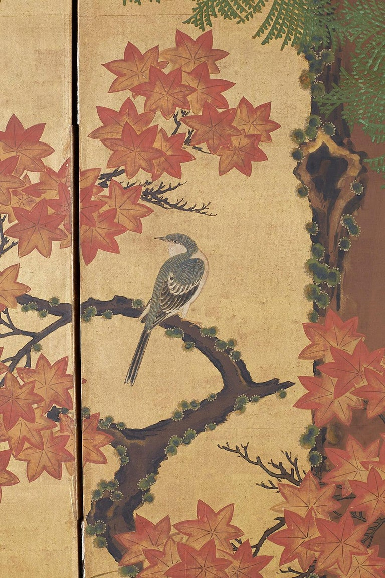 Japanese Two-Panel Meiji Screen Autumn Landscape 6