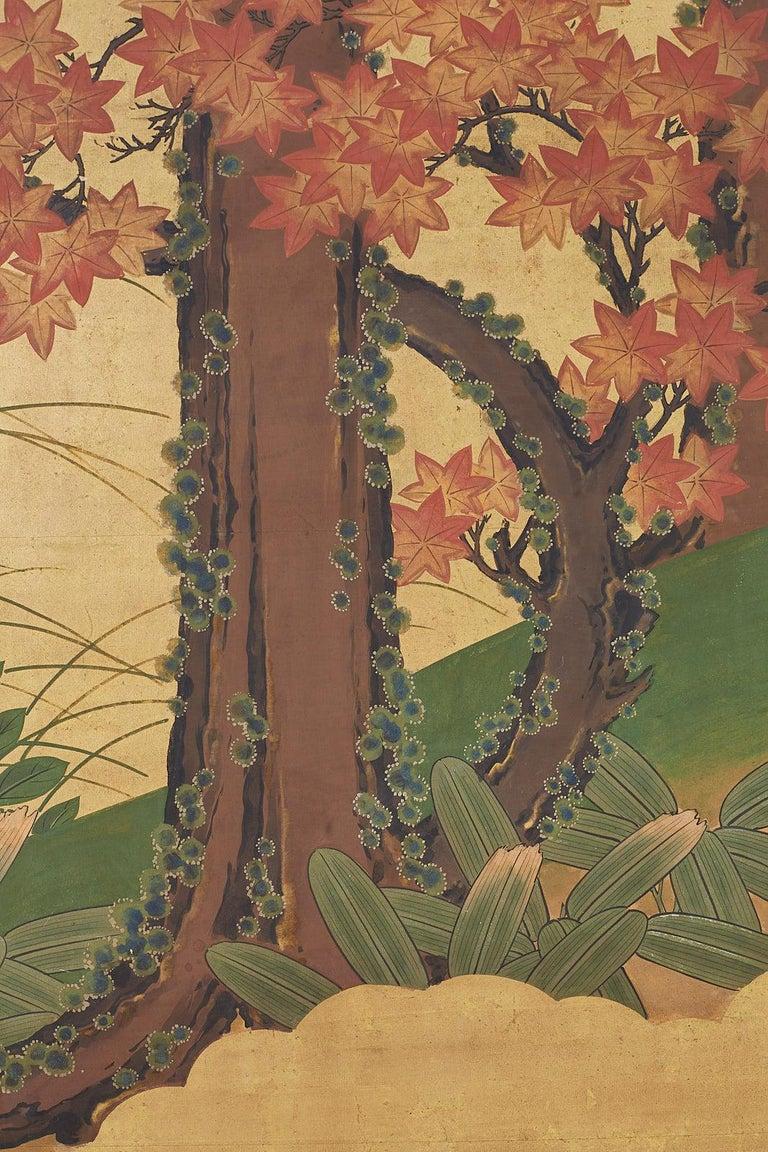 Japanese Two-Panel Meiji Screen Autumn Landscape 8
