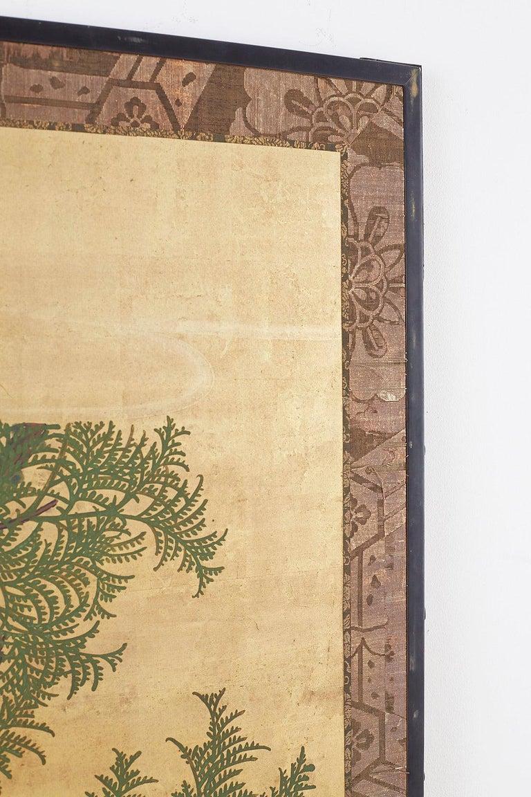 Japanese Two-Panel Meiji Screen Autumn Landscape 10
