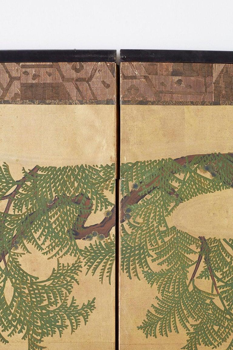 Japanese Two-Panel Meiji Screen Autumn Landscape 11