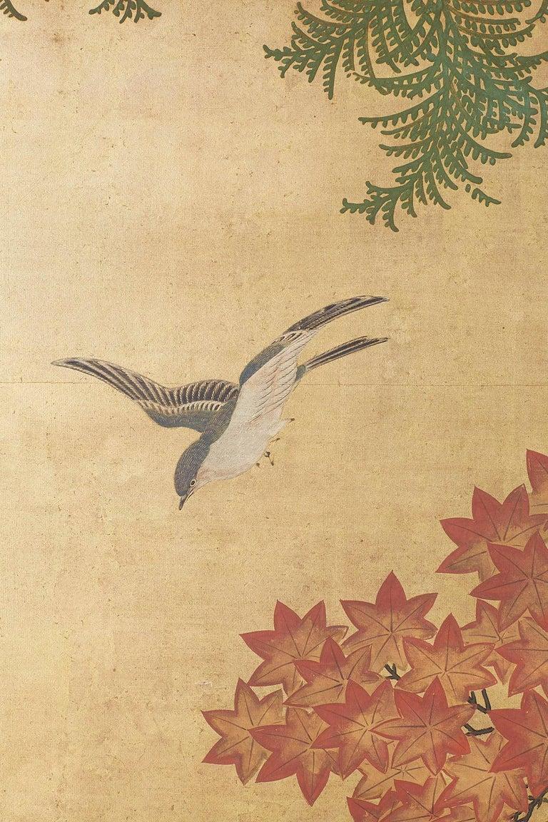 Japanese Two-Panel Meiji Screen Autumn Landscape 1