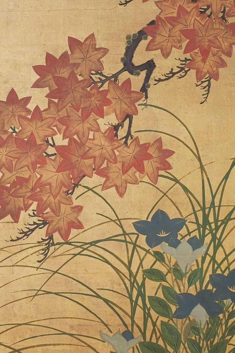 Japanese Two-Panel Meiji Screen Autumn Landscape 2