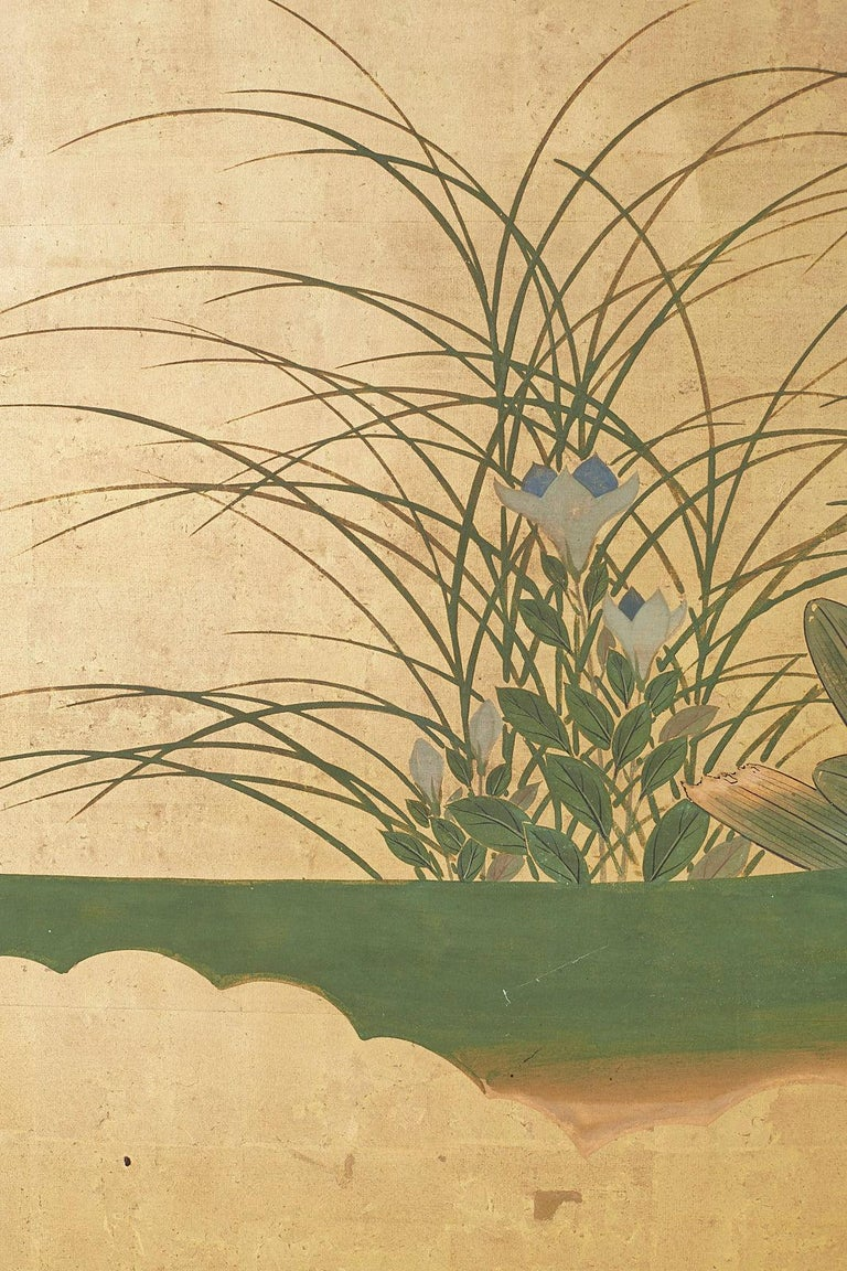 Japanese Two-Panel Meiji Screen Autumn Landscape 3