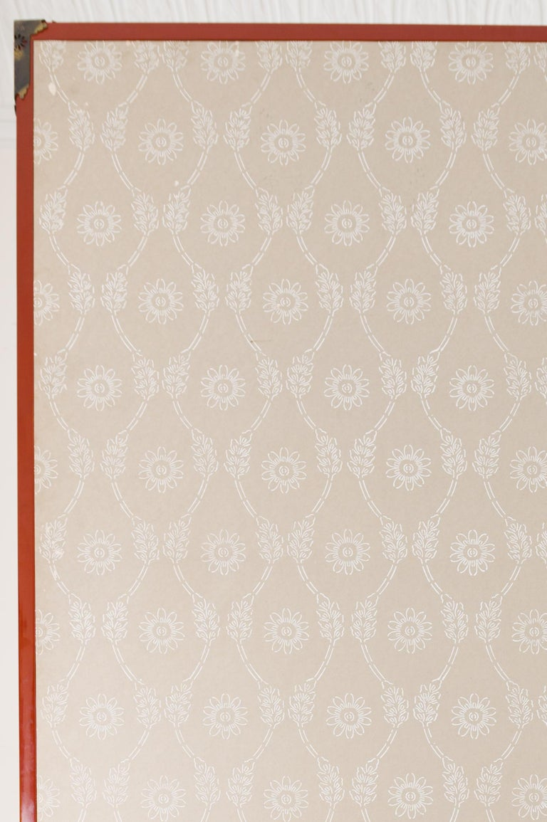 Japanese Two-Panel Screen, Autumn Colored Canyon in the Mist For Sale 5