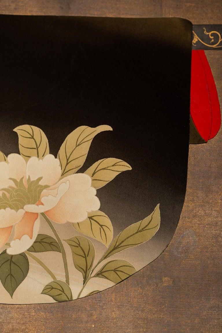 Japanese Two Panel Screen: Kimono on Rack For Sale 1