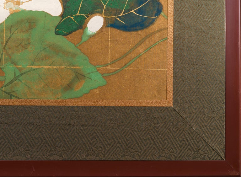 Japanese Two Panel Screen Late Summer Into Fall For Sale 11
