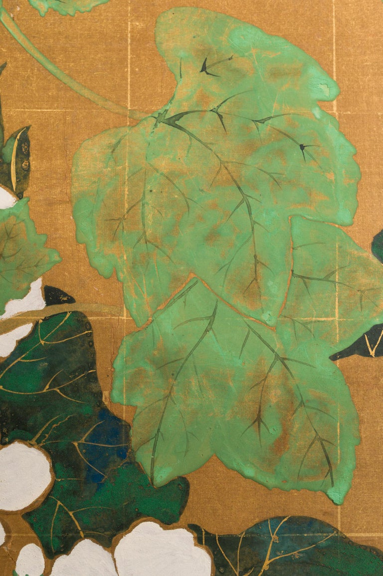 Japanese Two Panel Screen Late Summer Into Fall For Sale 5