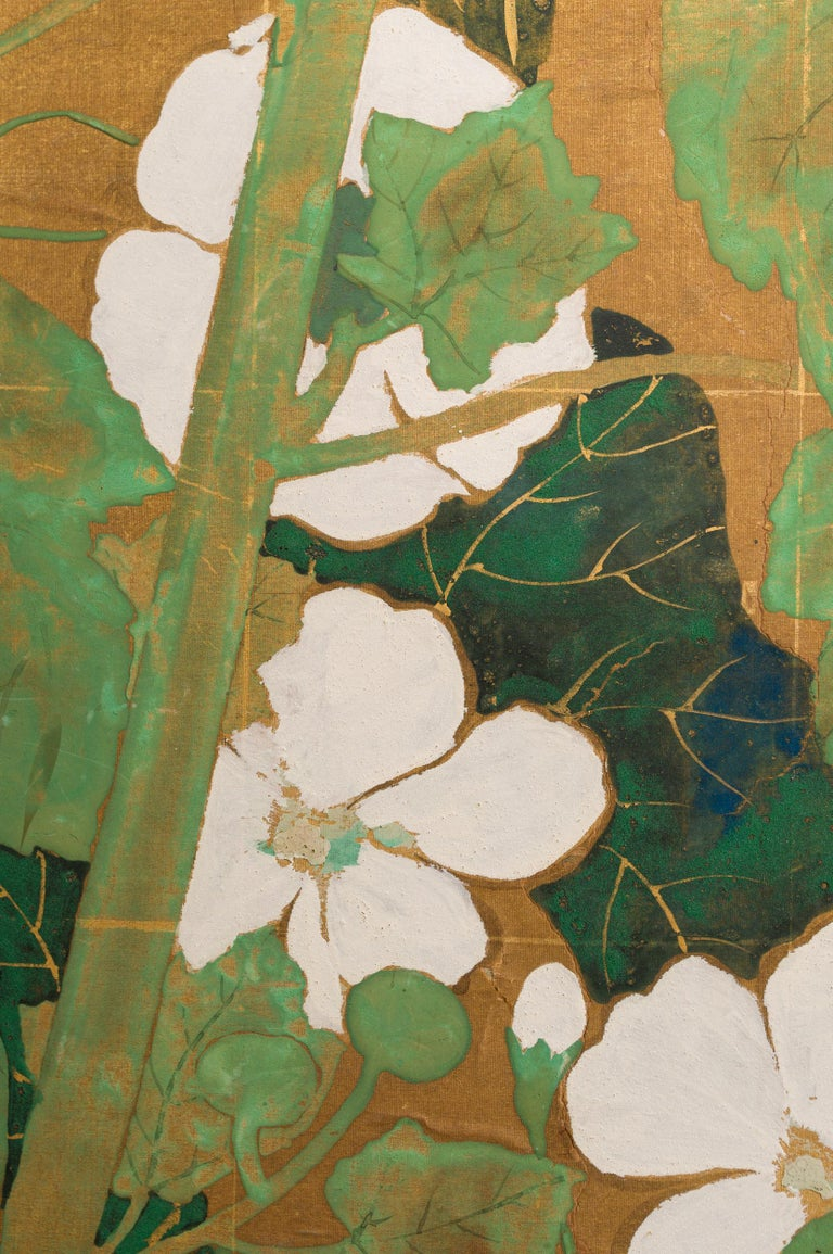 Japanese Two Panel Screen Late Summer Into Fall For Sale 4