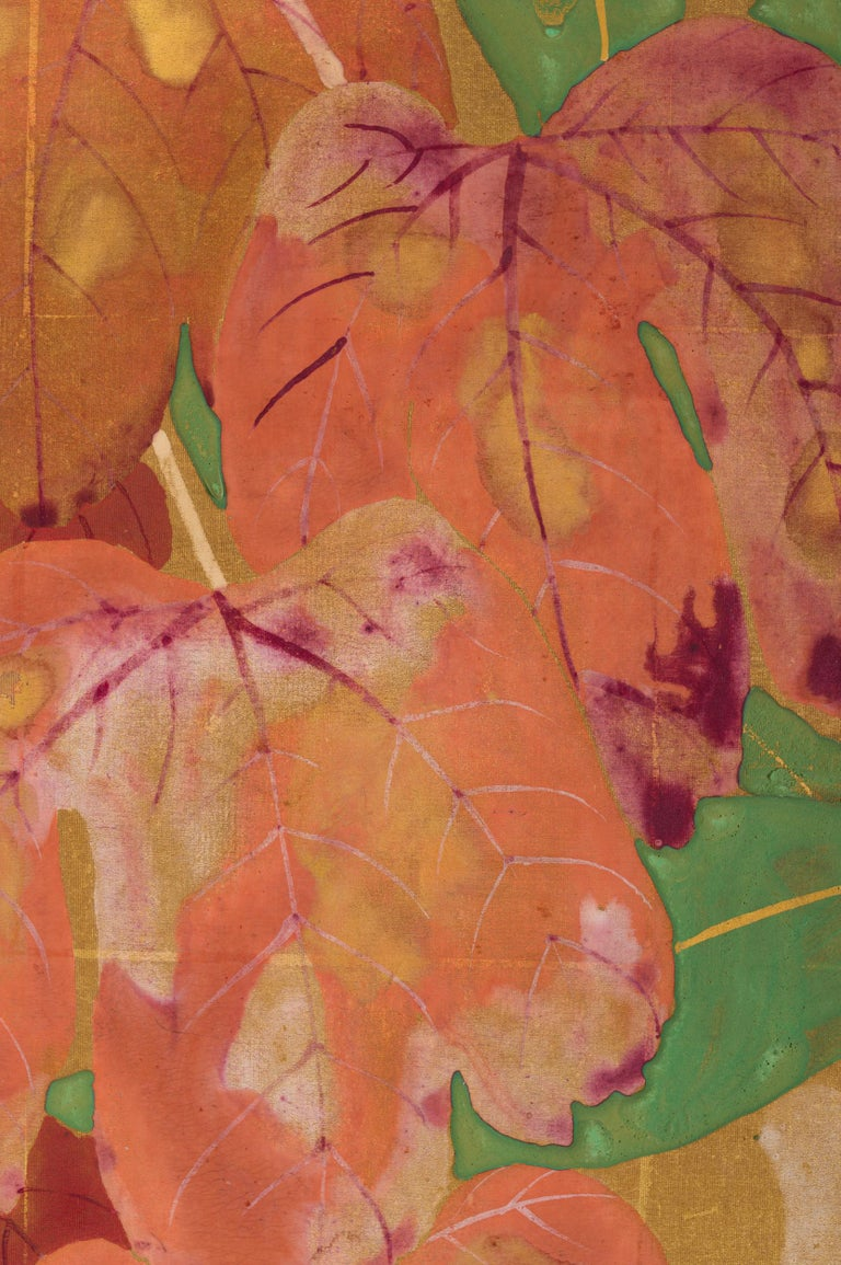 Japanese Two Panel Screen Late Summer Into Fall For Sale 8