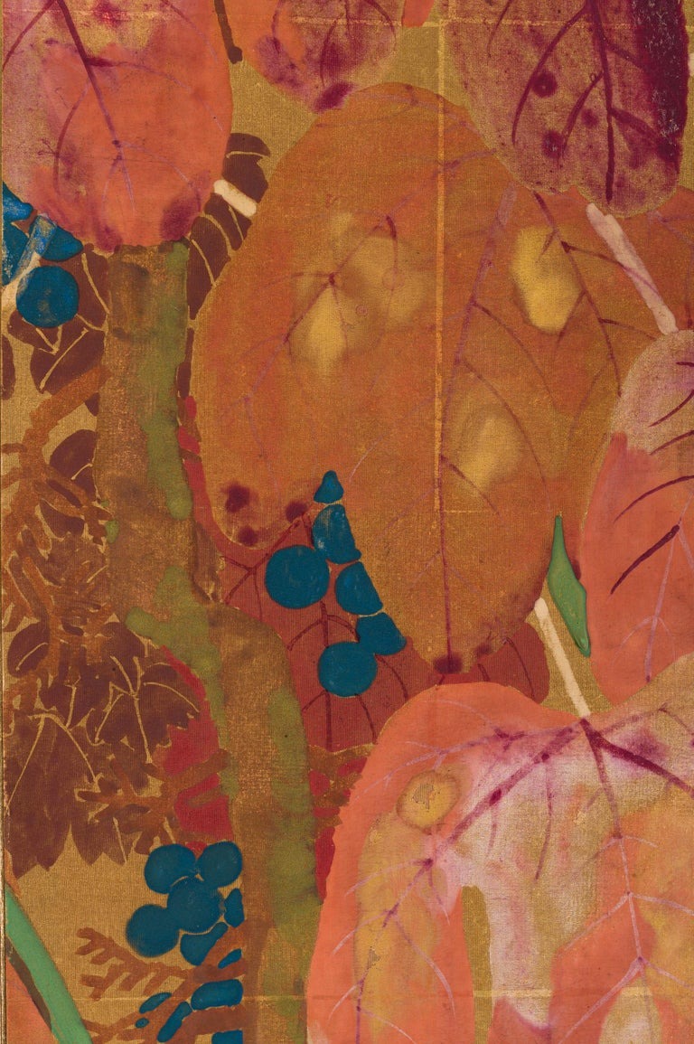 Japanese Two Panel Screen Late Summer Into Fall For Sale 6