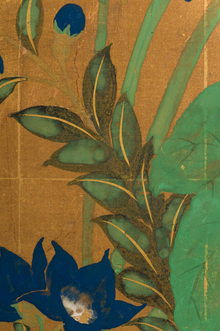 Japanese Two Panel Screen Late Summer Into Fall For Sale 2