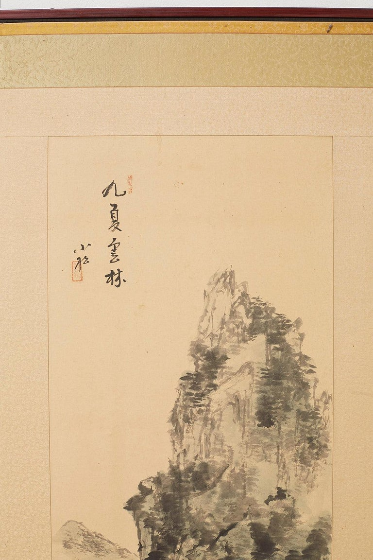 20th Century Japanese Two-Panel Screen Summer and Autumn Landscapes For Sale