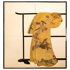 Japanese Two-Panel Screen Tagasode 'Whose Sleeves?'