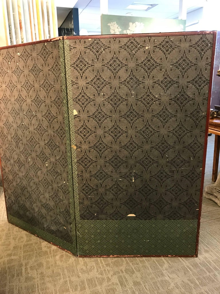 Japanese Two-Panel Screen with Fans For Sale 6