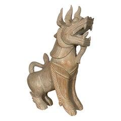 Japanese Unicorn.Chinoiserie Qilin Statue