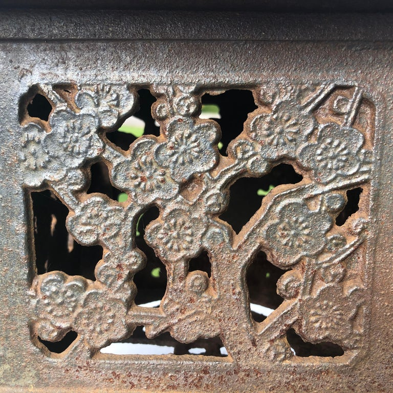 20th Century Japanese Unique Old Hand Cast Bronze