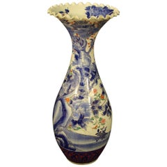 Japanese Vase in Glazed and Painted Ceramic, 20th Century