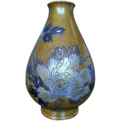 Japanese Vase in Mixed Metals, Signed