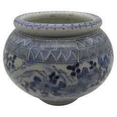 Japanese Vintage Arita Blue Porcelain Vase, 1940s