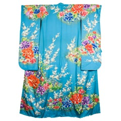 Japanese Vintage Women's Silk Wedding Kimono 'Hiki-furisode'