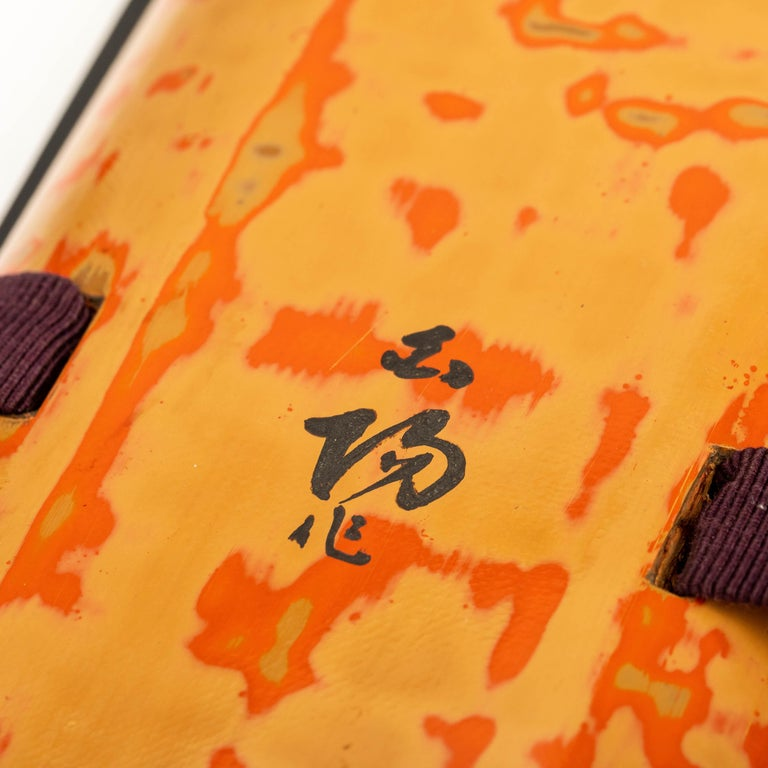 Japanese Wakasa Lacquer Folder for Poems and Paintings For Sale 2