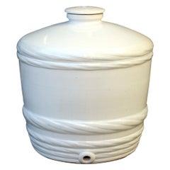 Japanese White Sake Jug