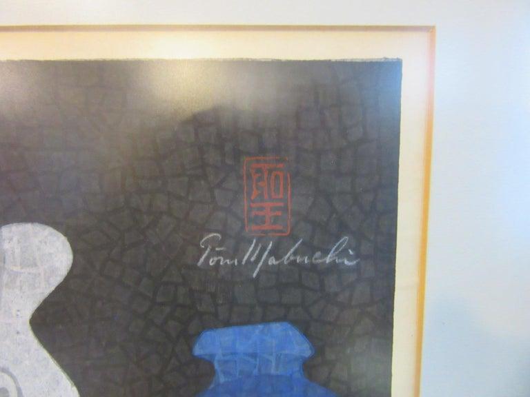 20th Century Japanese Wood Block Print by Mabuchi Toru For Sale