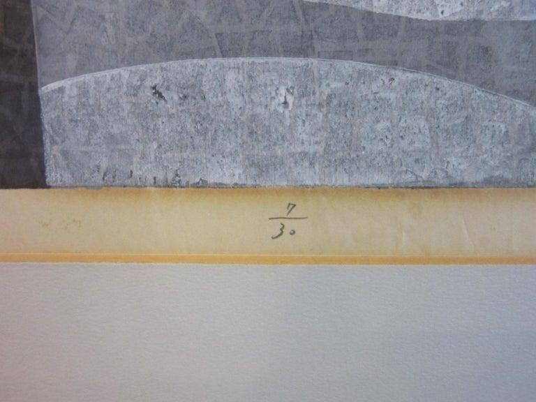 Japanese Wood Block Print by Mabuchi Toru For Sale 1